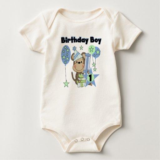 Mono del muchacho con el 1r cumpleaños de los mameluco