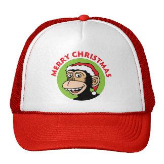 Mono del navidad gorras