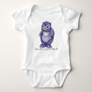 Mono del niño de Owlbear del bebé Remeras