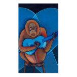 Mono del orangután del guitarrista de los azules tarjetas de visita