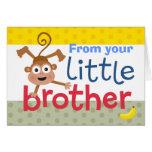 mono del pequeño hermano tarjeton