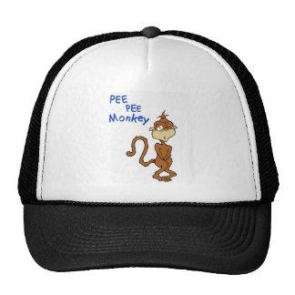 Mono del pis del pis gorras de camionero