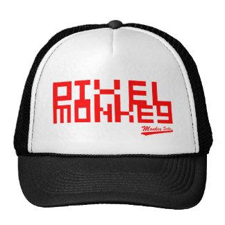 Mono del pixel gorras