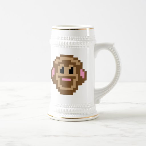 Mono del pixel jarra de cerveza
