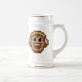 Mono del pixel tazas de café