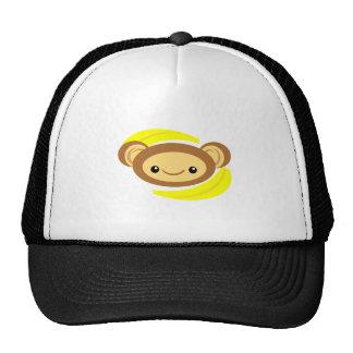 Mono del plátano gorros bordados