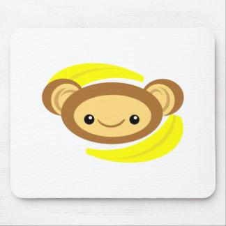 Mono del plátano alfombrillas de ratón