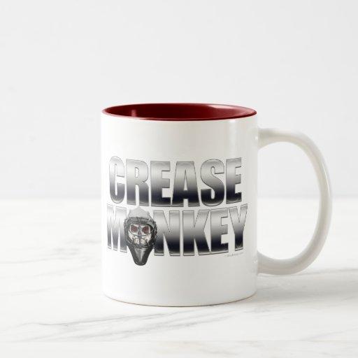 Mono del pliegue (portero del hockey) taza de dos tonos