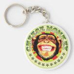 Mono del queso llaveros personalizados