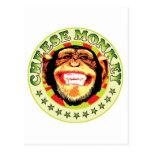 Mono del queso postales