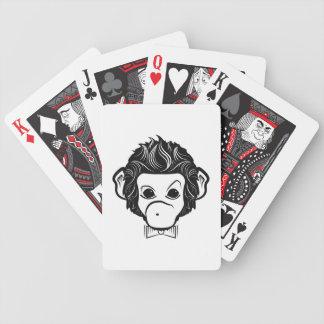 mono del señor baraja de cartas