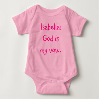 Mono del significado del nombre del bebé de Isabel Camisetas