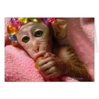 Mono del Snuggle Tarjeta De Felicitación