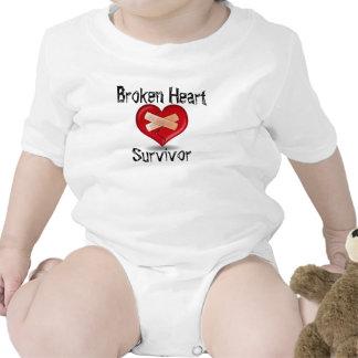Mono del superviviente del corazón quebrado trajes de bebé
