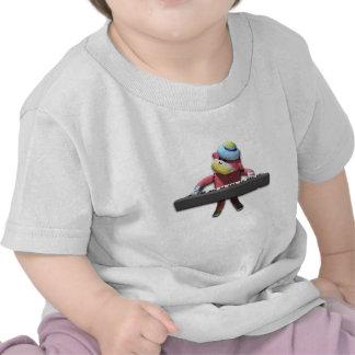 Mono del teclado camisetas