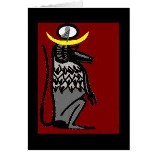 mono del tehuti tarjeta de felicitación
