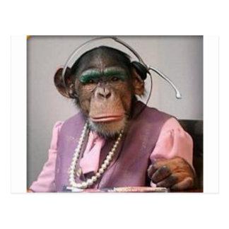 mono del teléfono tarjeta postal