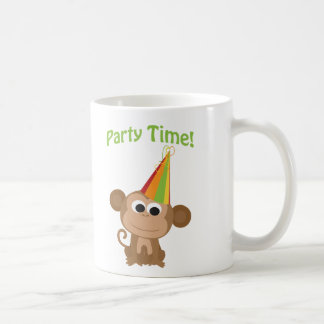 Mono del tiempo del fiesta taza de café