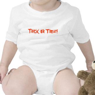 Mono del truco o de la invitación de Halloween/enr Camisetas