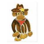 Mono del vaquero postal