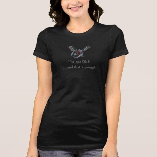 Mono del vuelo camiseta