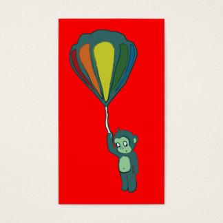 mono del vuelo: globo del aire caliente tarjetas de visita