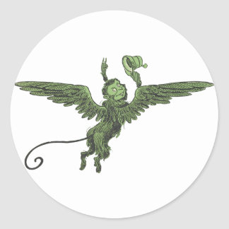 Mono del vuelo mago de Oz Pegatina