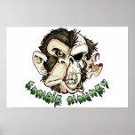 Mono del zombi posters