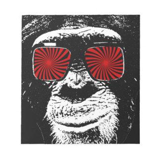 Mono divertido bloc de notas