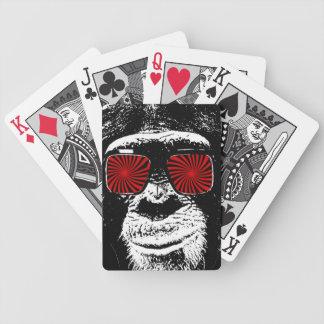 Mono divertido baraja de cartas