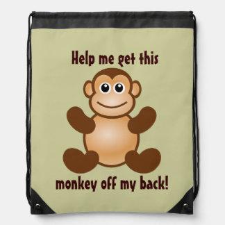 Mono divertido de mi cita trasera mochila