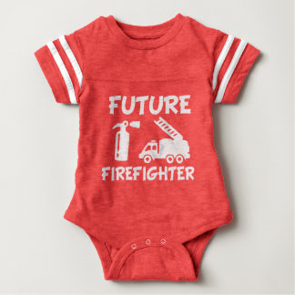 Mono divertido del bebé del bombero futuro body para bebé