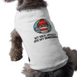 Mono divertido del calcetín camisa de perrito