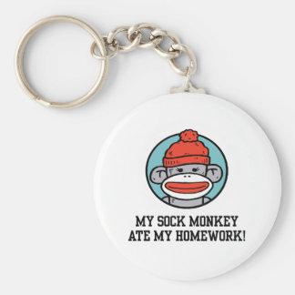 Mono divertido del calcetín llaveros