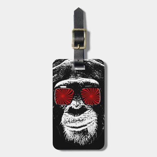 Mono divertido etiquetas bolsas