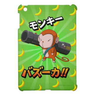 Mono divertido lindo con el bazuca y los plátanos iPad mini protectores