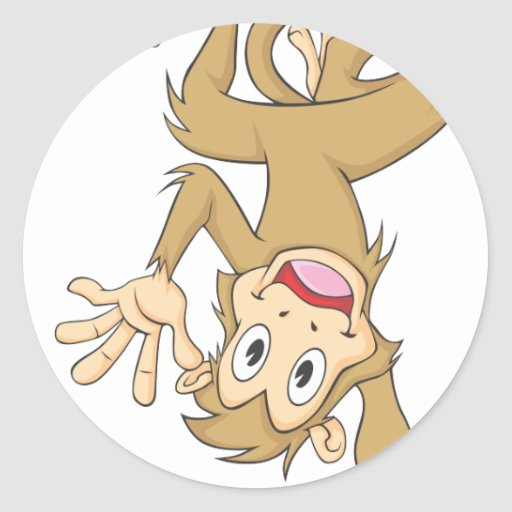 Mono divertido pegatinas