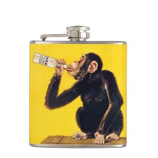 Mono divertido petaca