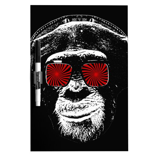Mono divertido pizarra