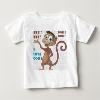 mono divertido playera de bebé