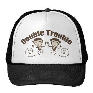 Mono doble del problema gorro de camionero
