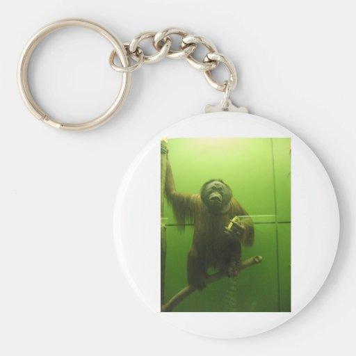 Mono dulce llavero redondo tipo pin