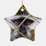 Mono eléctrico de la cerca adorno