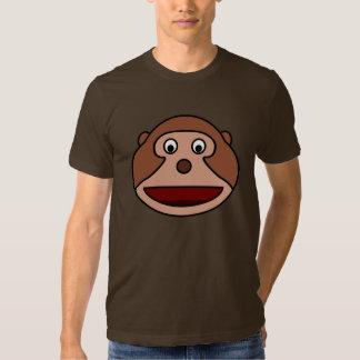 Mono emocionado del dibujo animado playeras