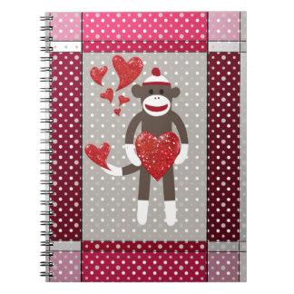 Mono en amor libreta espiral