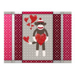 Mono en amor tarjetas postales