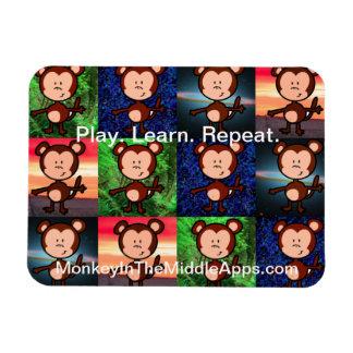 Mono en el imán medio de Apps