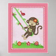 Mono en el juego impresiones