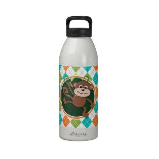 Mono en el modelo colorido de Argyle Botellas De Beber