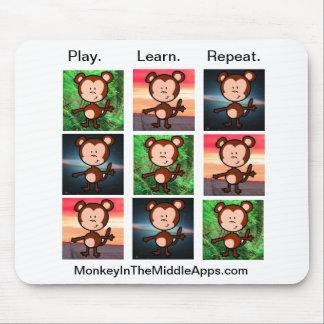 Mono en el mousepad medio de Apps